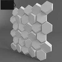 «Улей» декоративные 3д панели для стен