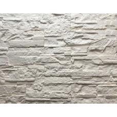 Белый Рифейский декоративный камень из гипса