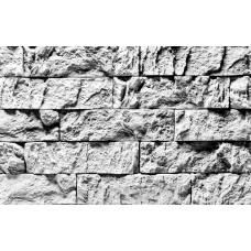 Белый Каменный  - декоративный гипсовый кирпич на стену