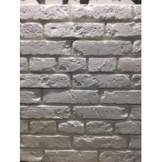 Белый Царский декоративный гипсовый кирпич на стену